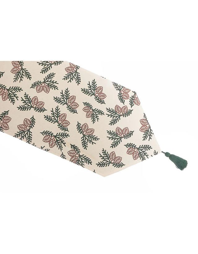 Cotton Table Runner (pinecone)