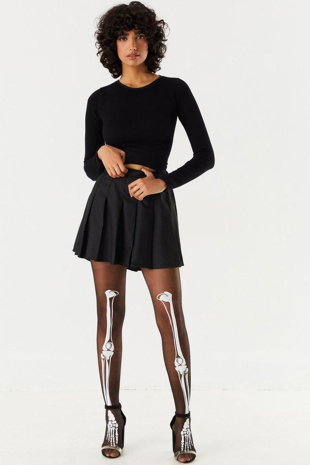 Urban Planet Halloween Stockings (2 Pack)   Black   Women's