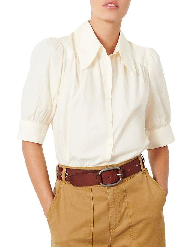 Bona Button-Up Cotton Shirt