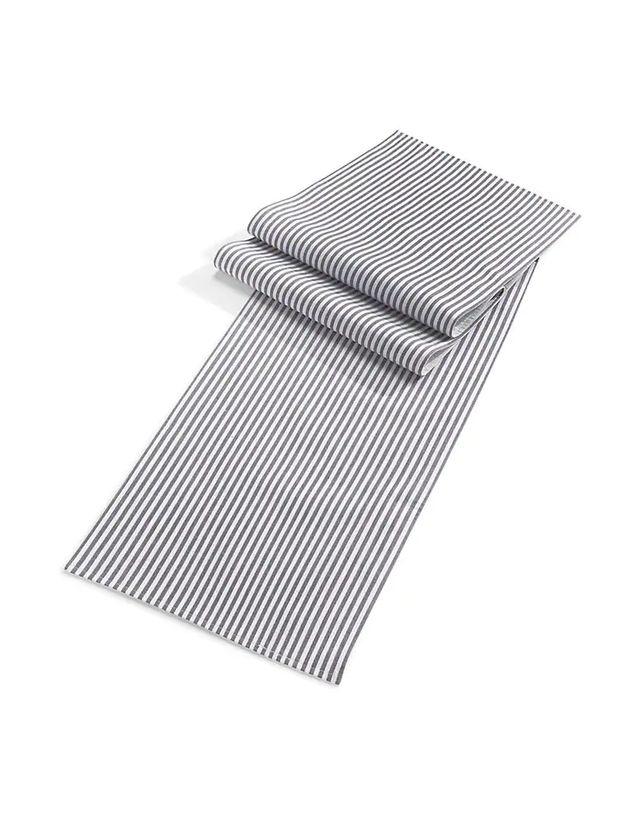 Pinstripe Cotton Table Runner
