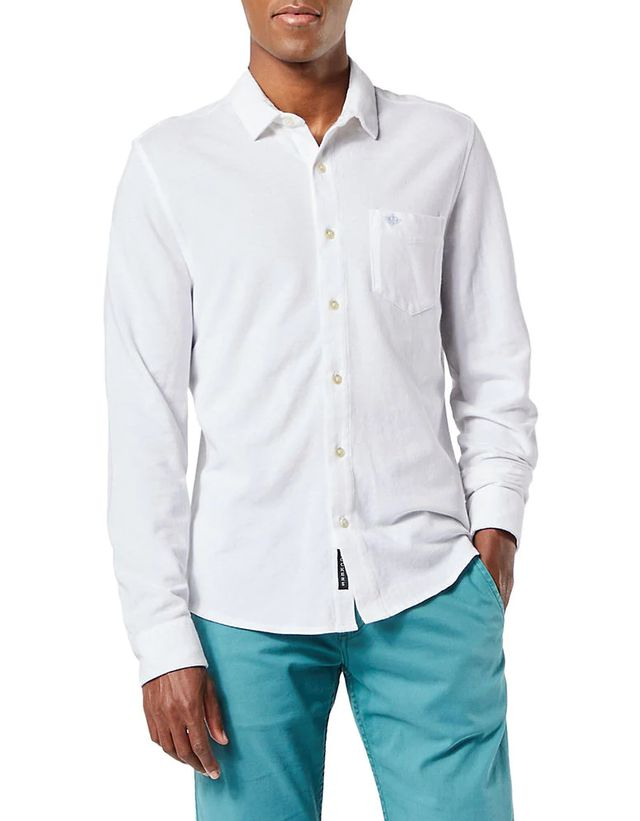 Alpha Slim-Fit Button-Up Cotton Shirt