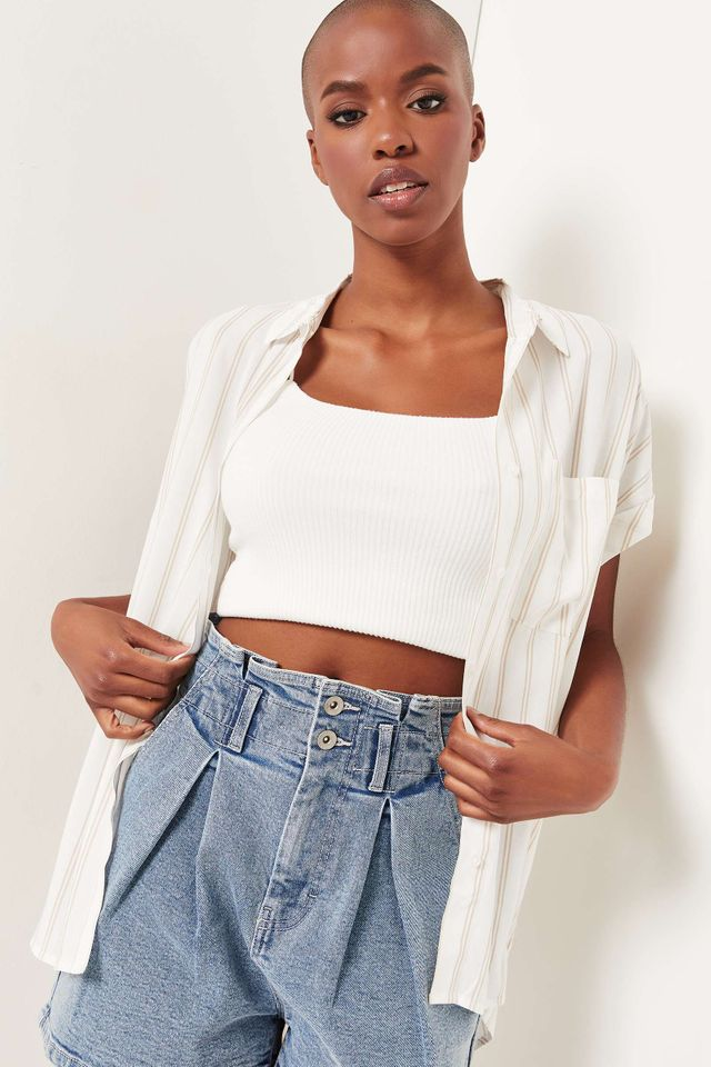 Ardene Dolman Button-Up Shirt